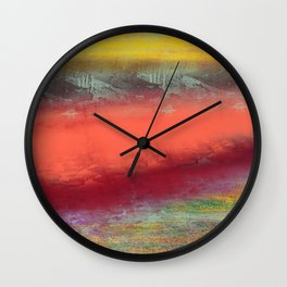 Red Lake Wall Clock