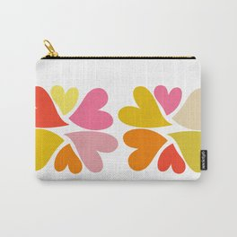 Heart flowers bright summer colours Carry-All Pouch