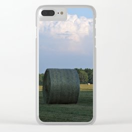 Hay bales at Virginia Farm Clear iPhone Case