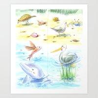 Sea Shore II Art Print