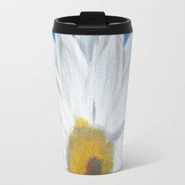 Egyptian Blue Daisy Travel Mug