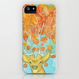 Autumn Deer iPhone Case