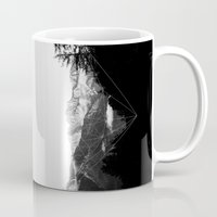 snowboarding Mugs featuring Crystal Mountain by Schwebewesen • Romina Lutz