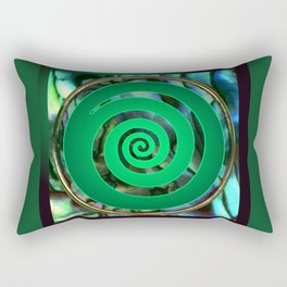 Paua Koru 1 Rectangular Pillow