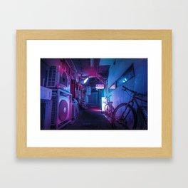 Tokyo Nights / Blue Monday / Liam Wong Framed Art Print