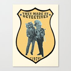 They Made Us Detectives (1979) - REMiX Canvas Print