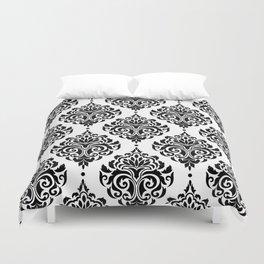 Black and White Damask Duvet Cover
