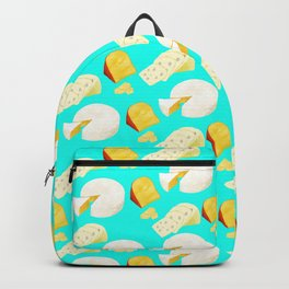 Cheese lover pattern featuring gouda, swiss, and brie Backpack