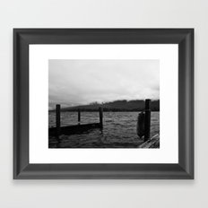 Fog Over the Lake Framed Art Print