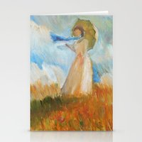 monet Stationery Cards featuring Monet Lady by KitaKita