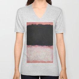 Mark Rothko - Untitled - Pink and Black Artwork Unisex V-Neck