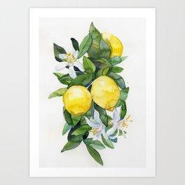 lemon tee Art Print