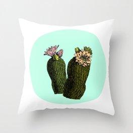 cactus mint Throw Pillow