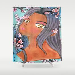 Cherry Blossom Klip Shower Curtain