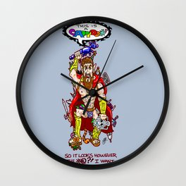 This is SPARTA...  Err...  I mean A CARTOON!  My take on Leonidas, and some 300 (or less) friends! Wall Clock