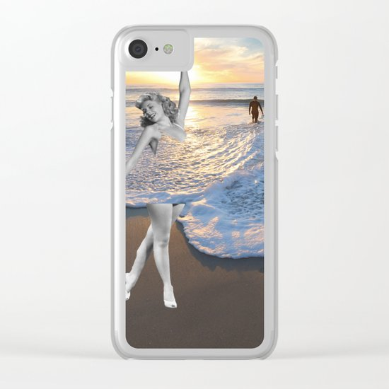 Like a wave Clear iPhone Case