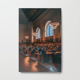 Rose Reading Room, NYPL 03 Metal Print