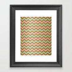 Glitter Chevron Framed Art Print