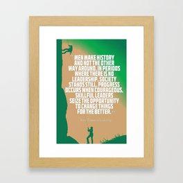 Inspirational Quotes - Motivational , Leadership - 32 Harry Truman Framed Art Print
