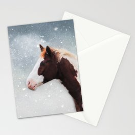 Paint Horse in the Snow Stationery Cards