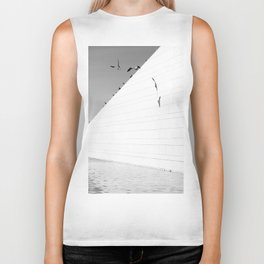 Shadows birds Biker Tank