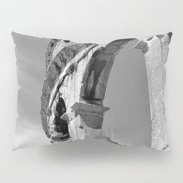 arena amphitheatre pula croatia ancient high black white Pillow Sham
