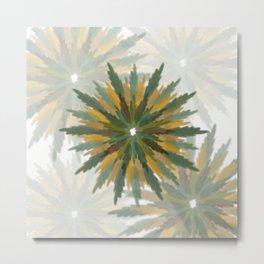 Leafy Wreaths Metal Print