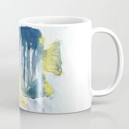 Blue and Yellow tropical fish Coffee Mug