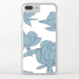 Roses in Blue Clear iPhone Case