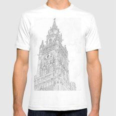 Tower of Big Ben Mens Fitted Tee MEDIUM White