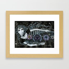 Strange Star Girl Framed Art Print