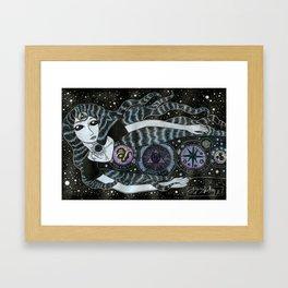 Strange Star Girl Framed Art Print