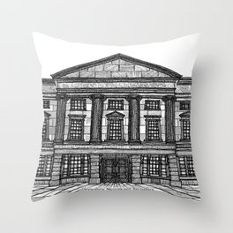 Shrewsbury Museum and Art Gallery, Black and White Throw Pillow