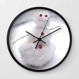 Tiny Texas Snowman Wall Clock