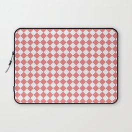 Small Diamonds - White and Coral Pink Laptop Sleeve