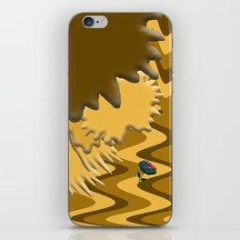 Shades of Brown Waves iPhone Skin