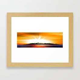 Trauminsel. Framed Art Print