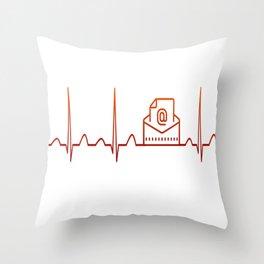 Mail Carrier Heartbeat Throw Pillow
