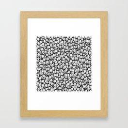 Kim Jong-un stickerbombing Framed Art Print