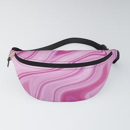 Fuschia Liquid Marble Design Fanny Pack