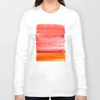 rothko Long Sleeve T-shirts featuring Summer heat by Picomodi