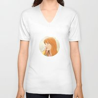 lost in translation V-neck T-shirts featuring Lost In Translation - Charlotte by Tanita