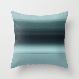 Caribbean Teal Ombré Design Throw Pillow