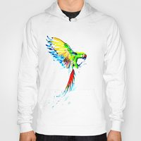military Hoodies featuring Military Macaw by ARealpe