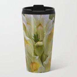 Yellow common Toadflax flower Travel Mug