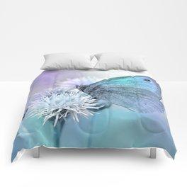 Butterfly blue 71 Comforters