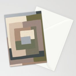 Abstract Neutrals Stationery Cards