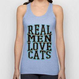 real men - Funny Cat Saying Unisex Tank Top