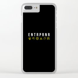 ENTRPRNR - Entrepreneur with Icons Clear iPhone Case