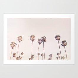 Sunny Cali Palm Trees Art Print